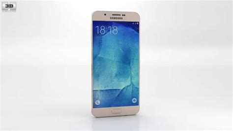 Samsung A8 Warna Gold Samsung Galaxy A8 Chagne Gold By 3d Model Store