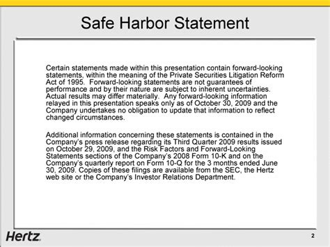 section 332 statement herc holdings inc form 8 k ex 99 1 november 4 2009
