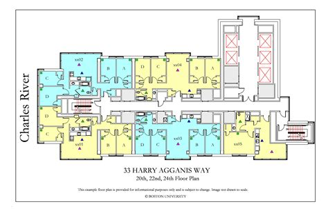 layout for university kilachand hall floor plans housing boston university bay