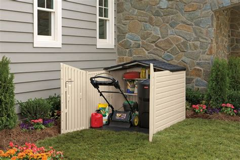 rubbermaid  lid plastic storage shed  cubic foot