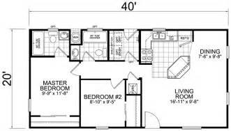 second unit 20 x 40 2 bed 2 bath 800 sq ft - 20 X 40 House Plans