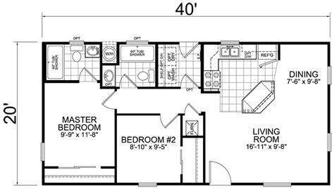 house map design 20 x 40 second unit 20 x 40 2 bed 2 bath 800 sq ft little