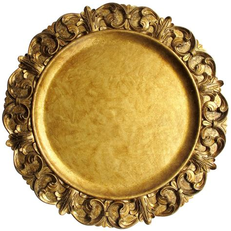 gold charger plates for 1 the companies 14 quot emboss gold polypropylene