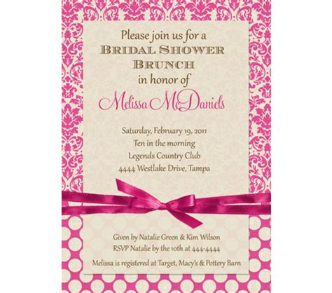 invitations for bridal shower luncheon wedding lunch invitation message mini bridal