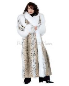 fur coat s portia length lynx fur coat with white fox trim furhatworld