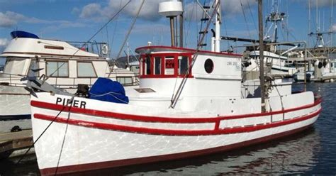 liveaboard boats for sale san francisco the piper is a 34ft monterey salmon troller built in 1926