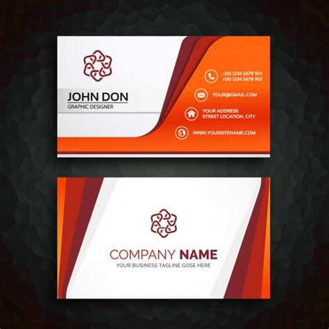 template for calling card business card template vector free