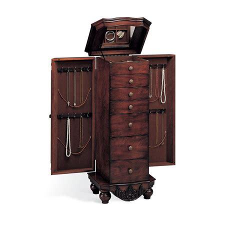 red jewelry armoire venetian worldwide queen anne brown red jewelry armoire v 900065 the home depot