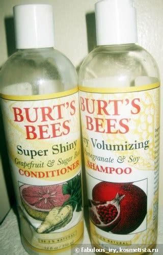Burts Bees Grapefruit And Sugar Beet Shoo by Burt S Bees Volumizing Pomegranate Soy Shoo And