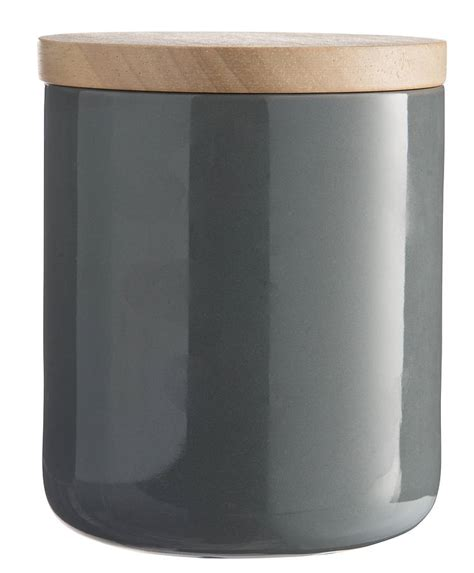 Glass Canister Set For Kitchen Ceramic Storage Jars With Wooden Lids By Horsfall Amp Wright