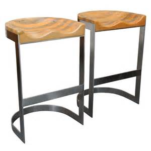 Saddle Seat Bar Stool Wood Saddle Seat Warren Bacon Bar Stools At 1stdibs