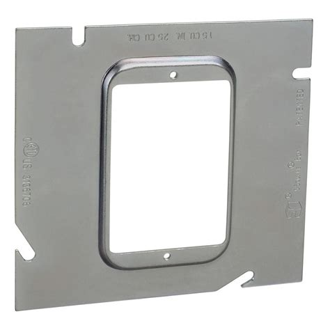 steel city 4 square extension ring steel city 1 1 4 in 5 square metal electrical box
