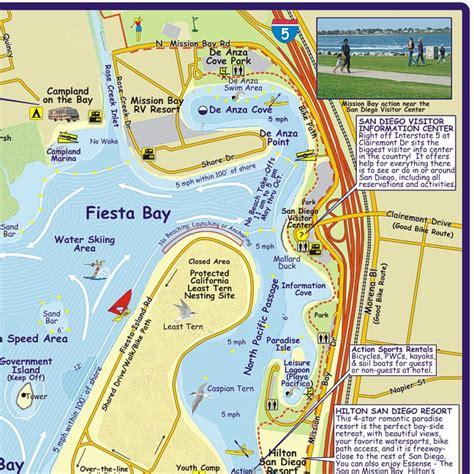 mission bay boat rentals map folded mission bay boating