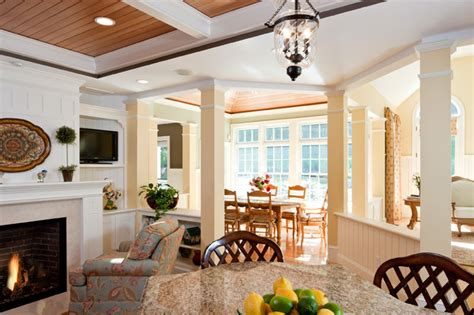 traditional dining room kitchen open floor plan gallery and open floor plan view of breakfast room addition