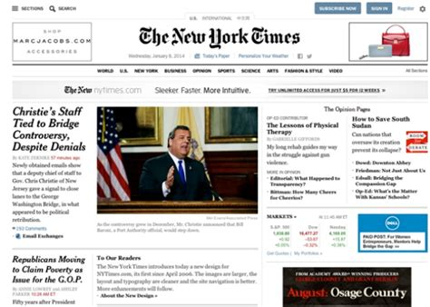 design news online new york times website redesign reviewed