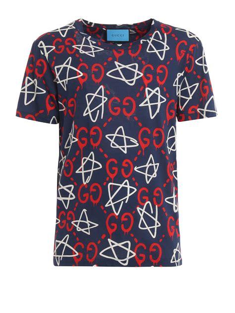 Print Shirt all guccighost print t shirt by gucci t shirts