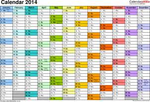 Year Calendar Template Excel by Excel Year Planner Calendar 2014 Uk 15 Free Printable
