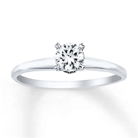 solitaire engagement ring 1 2 carat 14k