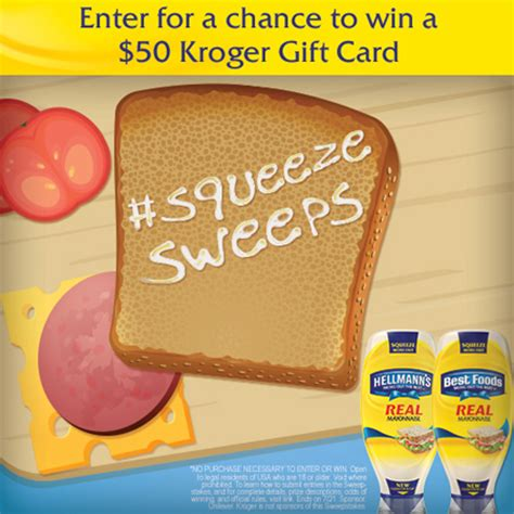 Kroger Gift Card Giveaway - win free 50 kroger gift card giveaway 1 00 off hellmann s or best food s mayonnaise