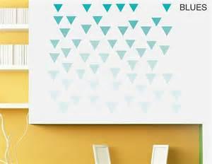 geometric triangles vinyl wall sticker set contemporary geometric pattern giant wall sticker set