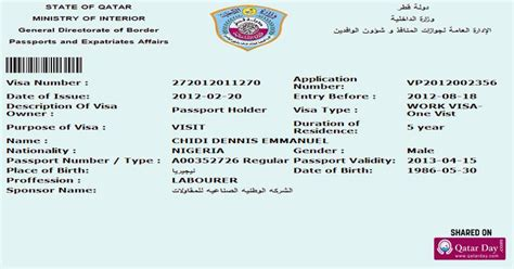 Offer Letter Qatar getting work visa after receiving an offer letter