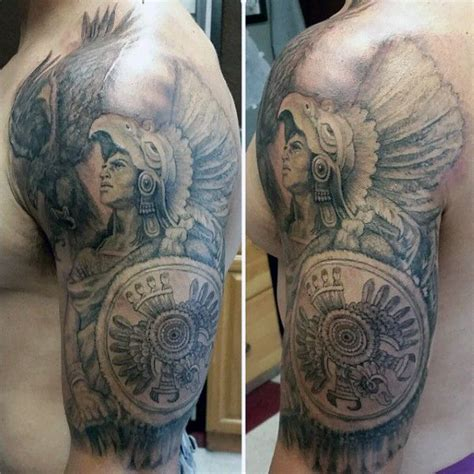 aztec tribal tattoos for cool shoulder aztec tribal tattoos