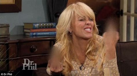 Momma Lohan Gets Fingered by Dina Lohan Flips Middle Finger At Dr Phil Daily Mail