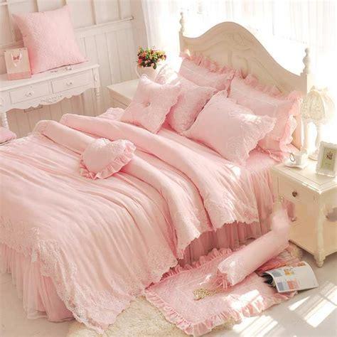 pink princess comforter aliexpress com buy korea lace bed skirts pink princess