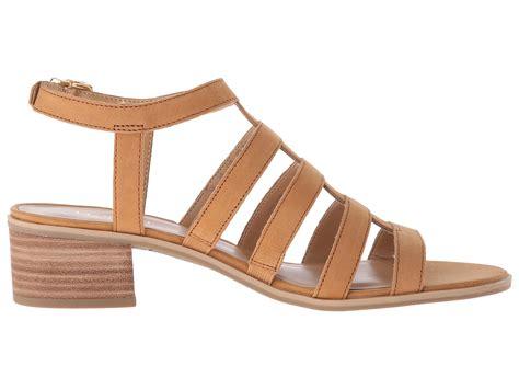 franco sarto sandals franco sarto oriele gladiator sandals in brown lyst