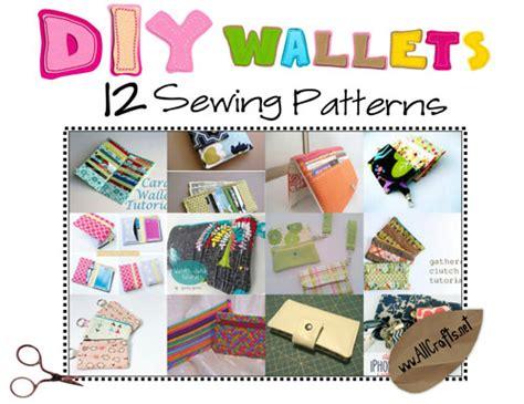 free craft patterns for diy wallets 12 sewing patterns allcrafts free crafts