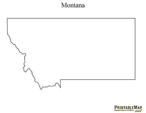 Montana Map Outline by Printable Map Of Montana For The Home Pumpkins Middle And The Mountains Are Calling