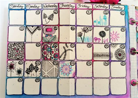 doodle like calendar artful stories unplanner week one of february