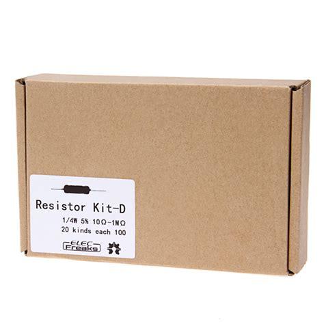 ohm resistor kit elecfreaks diy 0 25w 10 ohm to 1m ohm resistor kit d for arduino free shipping dealextreme