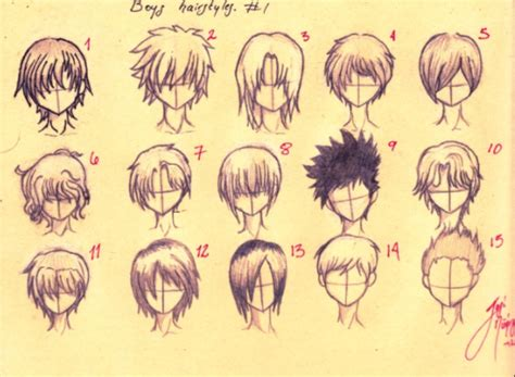 anime hairstyles guide how to draw anime boys hair sketch guide pinterest