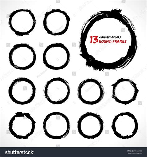 shutterstock design elements and layout vector pack set of round grunge vector frames grunge background