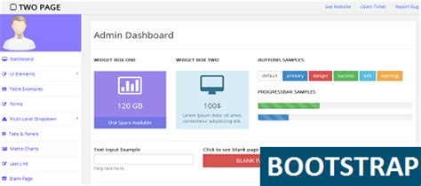 Free Bootstrap Admin Template For Personal And Commerical Personal Page Template Bootstrap