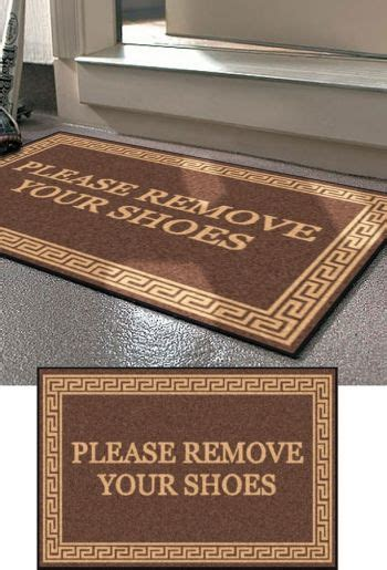Take Shoes Doormat by Personalized Doormat Remove Your Shoes Or