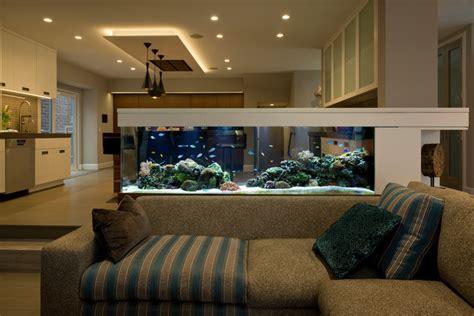 Living Room Aquarium 200 gallon room divider living reef installation