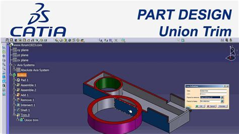 catia v5 cource is here to desigh your plane catia catia v5 part design union trim youtube