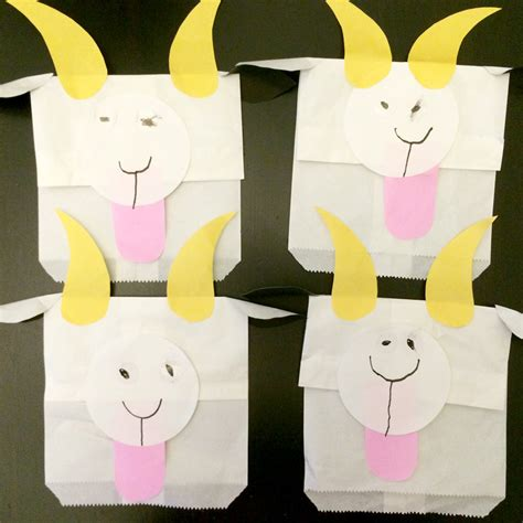 goat crafts for and craft activity paper goat puppets the new age