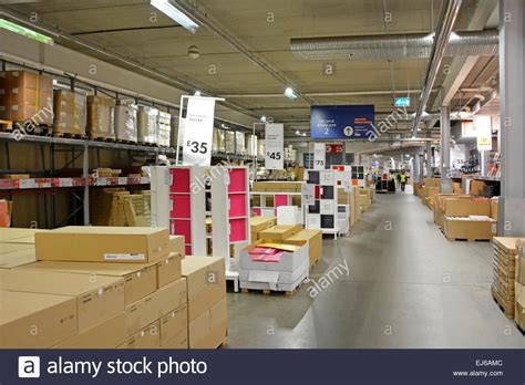 ikea buy store ground floor warehouse customer collection areas in ikea store in the stock photo royalty free