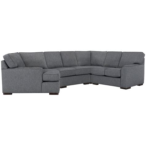 left cuddler sectional city furniture austin blue fabric small left cuddler