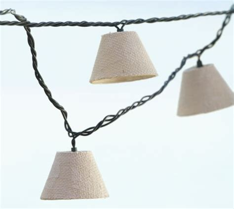 burlap lantern string lights burlap shade string lights pottery barn