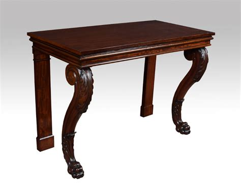 Mahogany Console Table Regency Mahogany Console Table 372329 Sellingantiques Co Uk