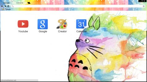 theme chrome totoro totoro watercolors chrome theme themebeta