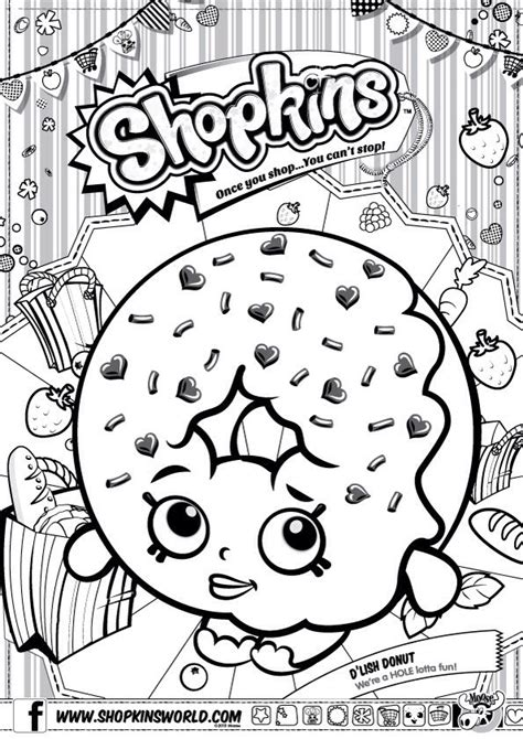 shopkins donut coloring page free coloring pages of shopkins donut