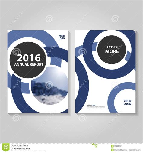 circle blue annual report leaflet brochure flyer template