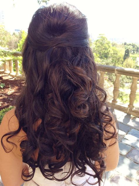 wedding hairstyles no curls wedding hair long hair curly half up half down hair