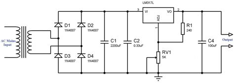 lm317 regulator wiring diagrams wiring diagram schemes
