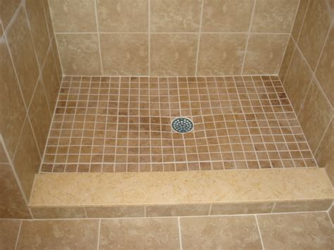 Tiled Shower Pan by Porcelain Shower Pan Tile With Custom Travertine Marble